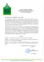Arrêté municipal ordonnant les mesures provisoires nécessaires au cas de péril imminent