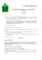 permission de voirie SIEL plantation de poteaux THD42