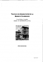 programme de réhabilitation MAISON A COLOMBAGES