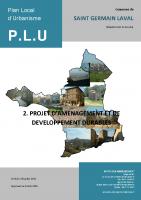 2-Projet d amenagement et de developpement durable
