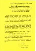 Avis Enquête Publique Cession terrain Chaufferie Collective Rue Jean Boyer